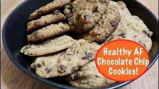 Healthy AF Chocolate Chip Cookies starring Chick Peas!