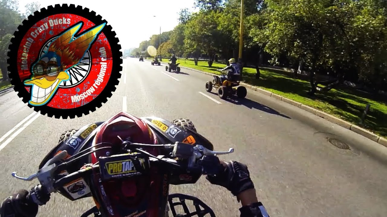 Moscow atv crazy stunt cross riding yamaha raptor 700 kostya_luk youtube