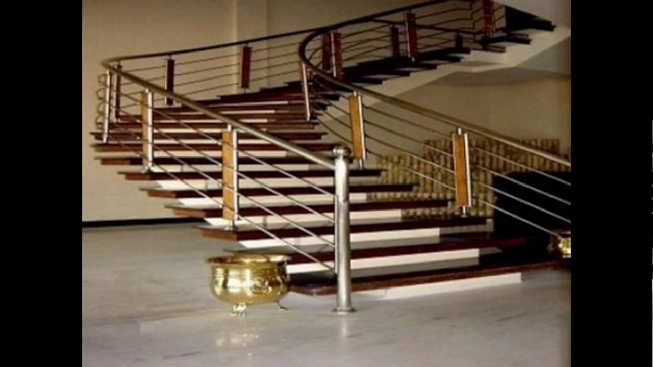 STAINLESS STEEL GLASS MODERN Staircase HAND RAILS   THRISSUR Call 9400490326