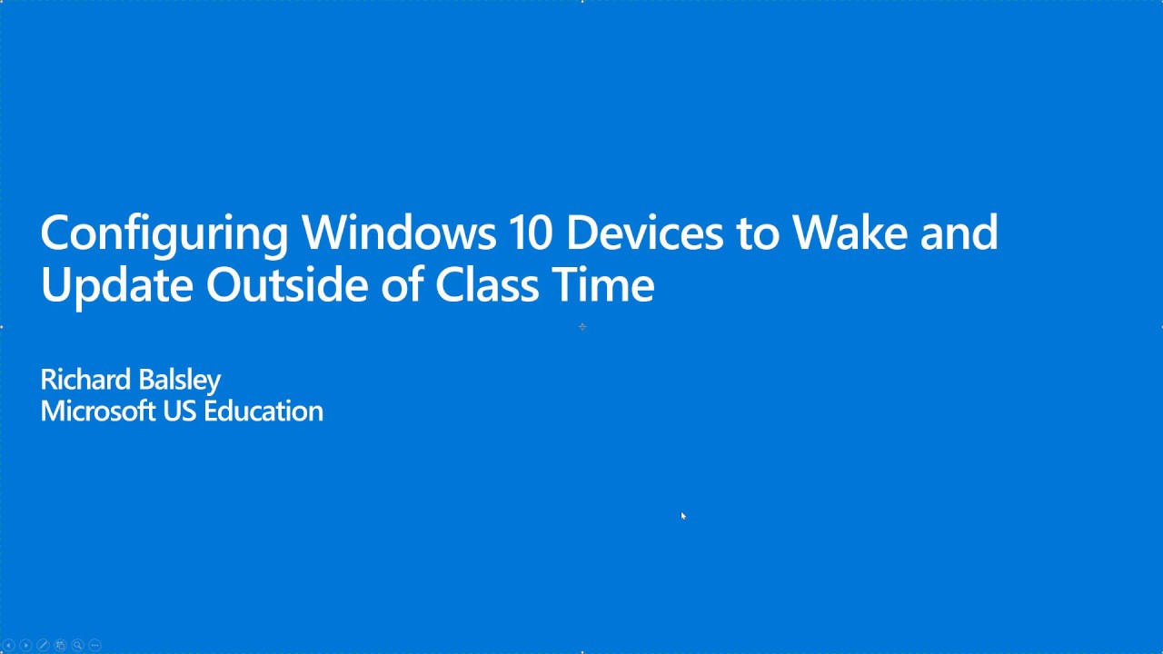 Configuring Windows 10 Devices to Wake and Update Outside of Class