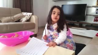 A 101 Alış Veriş İlkim Evde Ödev Yapıyor Eğlenceli Çocuk Videosu