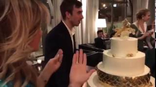 День рождения Бородиной (вынос торта) 8.03.17