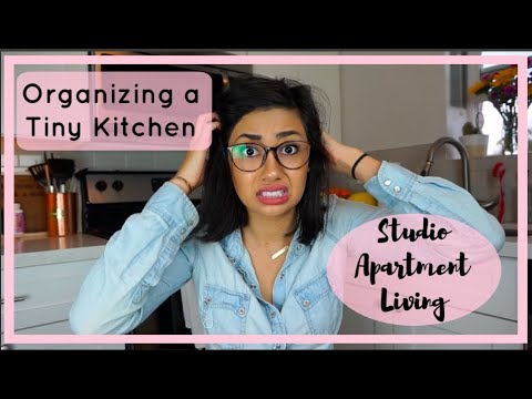 SMALL KITCHEN ORGANIZATION | Organizing a Studio Apartment Kitchen
