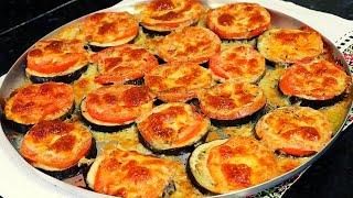Berinjelas A Napolitana Recheada Com Tomate E Queijo