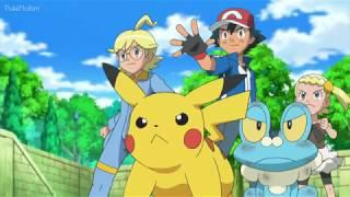 Pokémon - Ash e Clemont Vs Equipe Rocket (Wobbuffet contra Froakie)