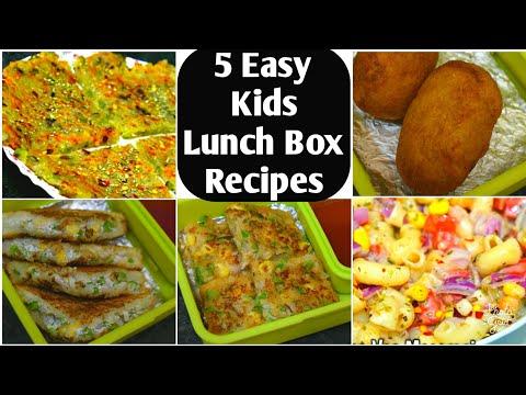 5 बच्चों की पसंदीदा लंच बॉक्स रेसिपीज 5 Indian Lunch Box Ideas | Kids Lunch Box Recipes Kids Tiffin
