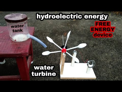 how to make hydro electricity generation at home | free energy school project
