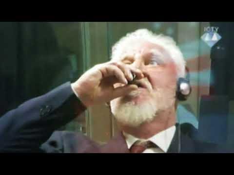 """Breaking """"Bosnian General Drinks Poison Dies In Courtroom"""""""
