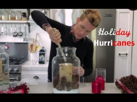 how to decorate with hurricane glass for the holidays