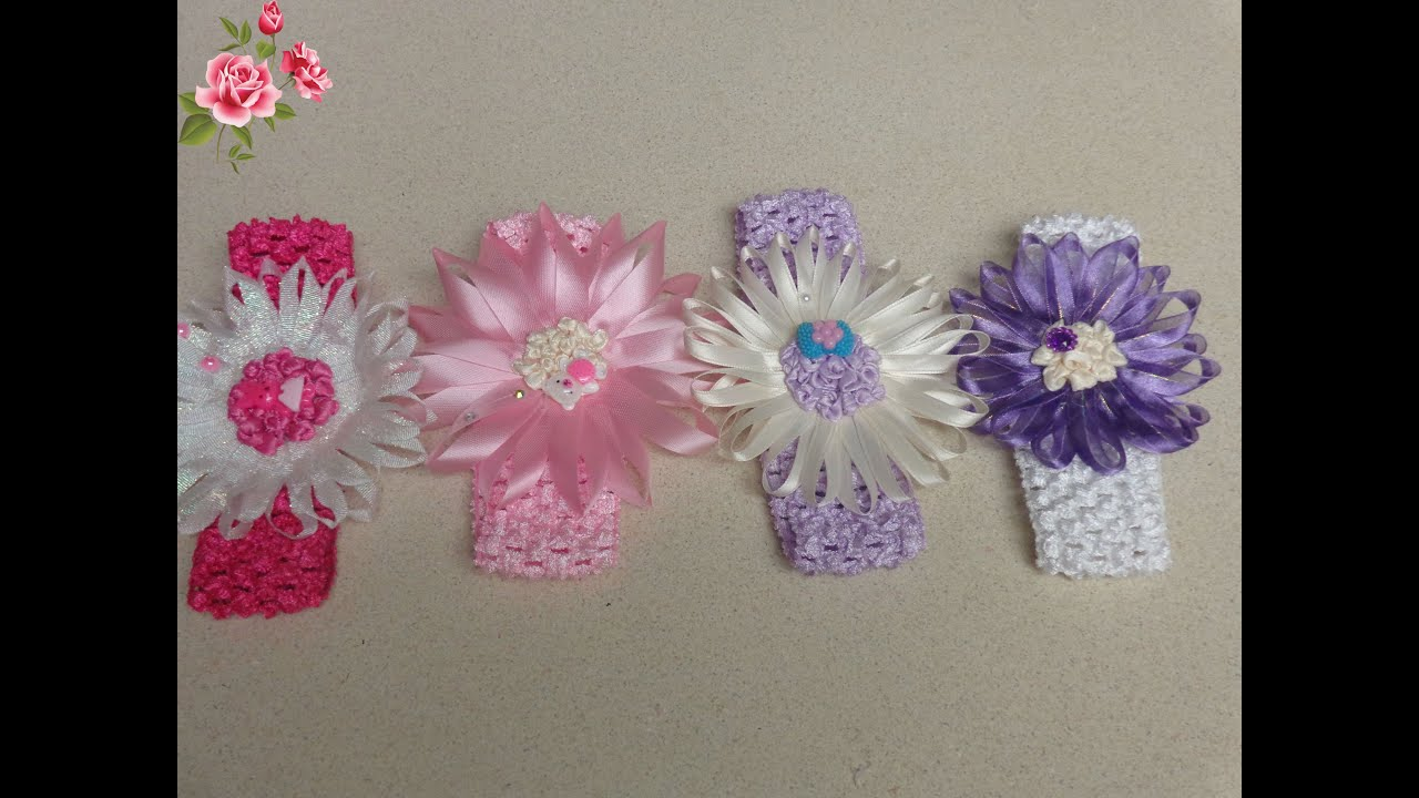 Manualidades de diademas para ni as accessories for hair - Flores para diademas ...