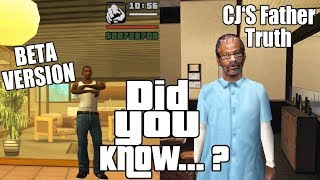 GTA San Andreas Secrets and Facts 16 Beta Features, CJ's Father, Myths, Legends