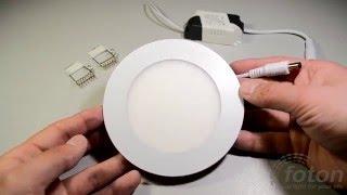 видео Светодиодные светильники для офисных помещений: потолочные встраиваемые, врезные, накладные, цены