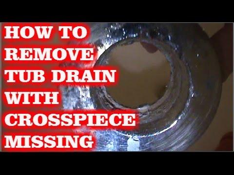 how to remove tub drain w broken cross members youtube. Black Bedroom Furniture Sets. Home Design Ideas