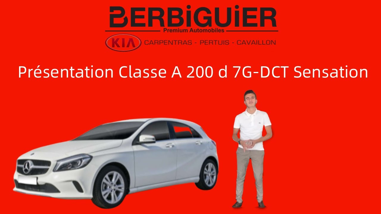 Présentation  Mercedes Classe A 200 d 7G-DCT Sensation vo22908