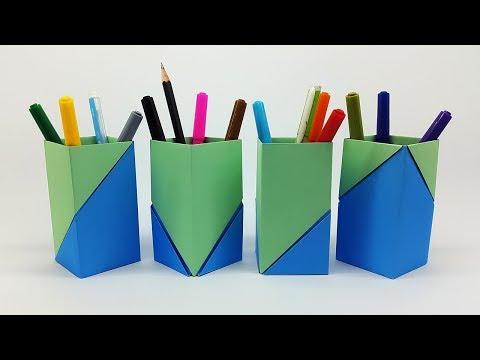 How to Make Pen stand | Paper Pen/Pencil Holder || Hexagonal Easy Tutorial - Diy