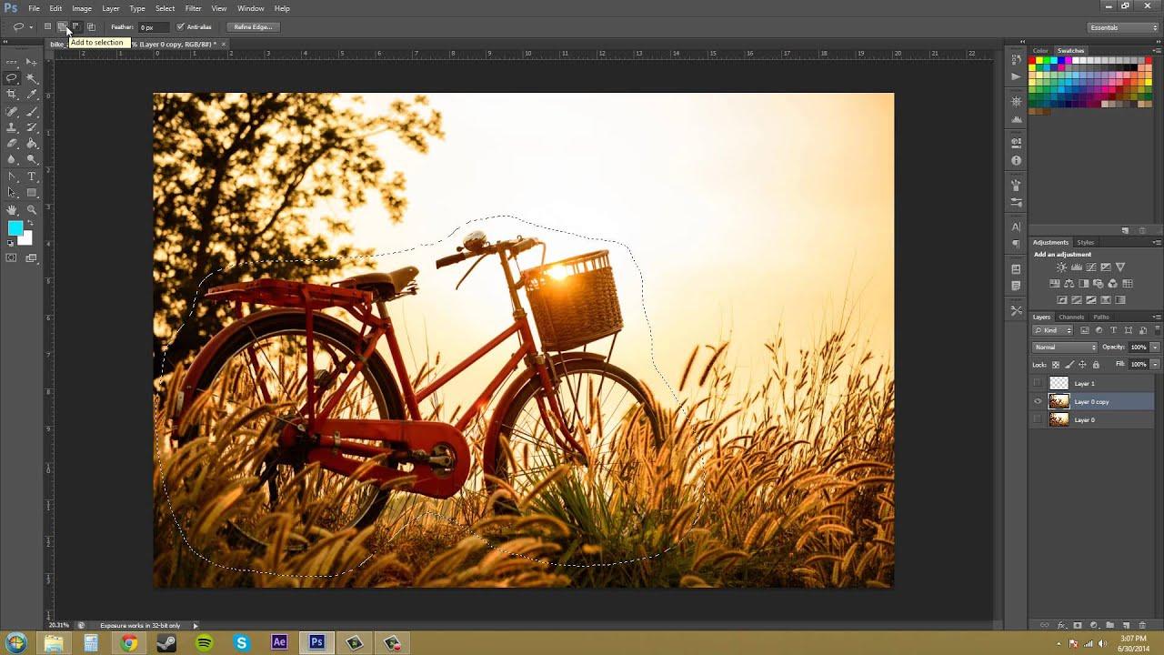 Photoshop cs6 tutorial 33 lasso tool youtube baditri Image collections