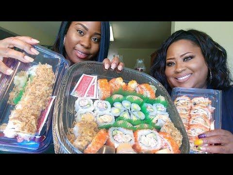 Sushi Mukbang!!!!!