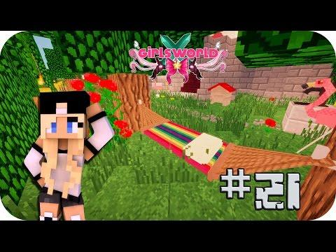 Decorando el jardín chillout - Girl's World Ep 21 Minecraft