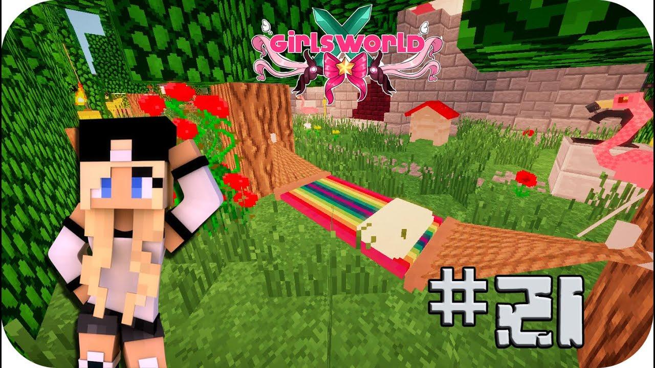 Decorando el jardn chillout  Girls World Ep 21 Minecraft  YouTube