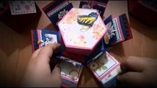 Ruth愛分享- 爆炸卡-六角禮物盒
