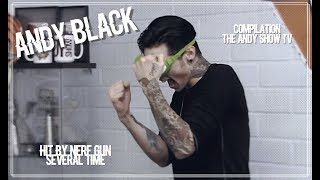 Andy Black getting hit by Nerf Gun (Compilation)