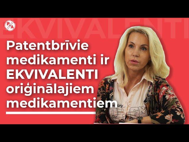 Prof. Santa Purviņa par patentbrīvajiem medikamentiem