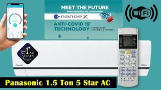 Panasonic 1 5 Ton 5 Star Split Inverter AC with Wi-fi Connect Panasonic AC 2021 Model