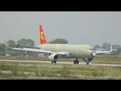 Capital Airlines Airbus A321-231SL D-AZAV / B-8543 Breake Test Run Primer Livery XFW Airbus Hamburg
