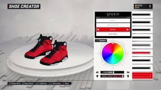 nba 2k17 shoe creator air jordan 6 infrared 23