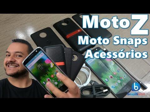Moto Z - Conheça os Moto Snaps e os Acessórios! Em Português