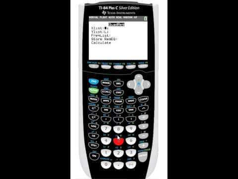 Tutorial: TI-84 Plus C Silver Edition - Regression Equations for Sets of Data