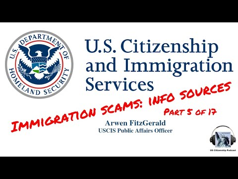 Immigration Scams: Info Sources (Part 5 Of 17)