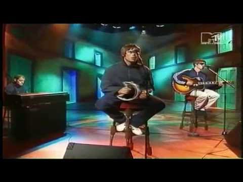 Oasis - Live Forever (Acoustic) MTV 1994 (HD)