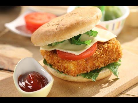 Crunchy Paneer Burger   Sanjeev Kapoor Khazana