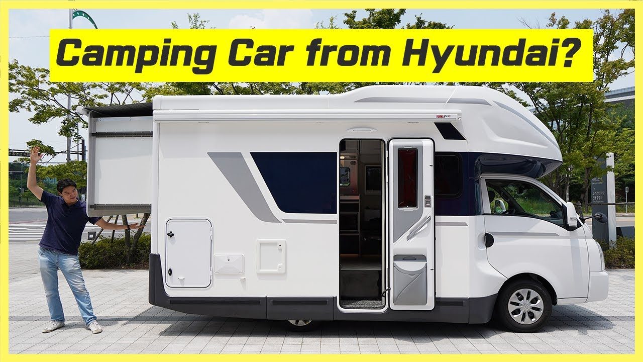 Camping Car from Hyundai? This is the Hyundai Porest, it's a camping-car based on Hyundai H100