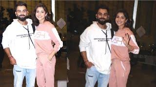 Virat Kohli & Anuhska Sharma CUTE Together In FRONT Of At Airport