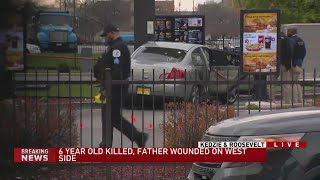 6-year-old girl killed, father shot while sitting at McDonald's drive-thru on West Side