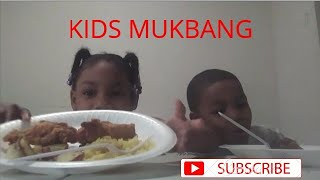 Kids MUKBANG *chicken, yellow rice & potatoes* dont own the rights to the music