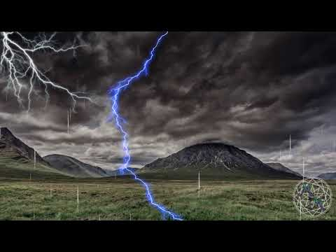 Relaxing Thunderstorm 1Hr Ambient Nature Sounds Rain, Thunder, Falling Rock Sleep Aid