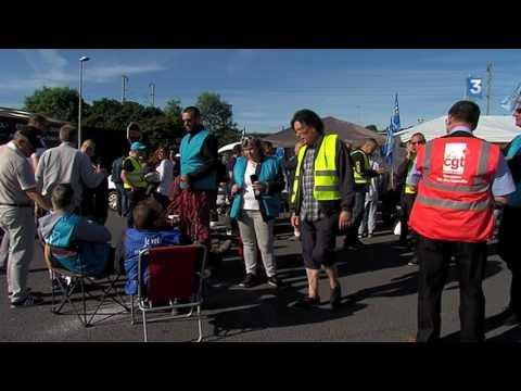 Grève chez les Bus Verts: les salariés bloquent le dépôt de Mondeville