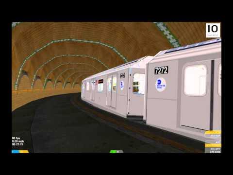 OpenBVE HD: NYC Subway Kawasaki R142A 6 Train Relaying Through City Hall Station 4/9/15