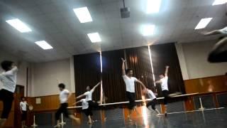 2012 Beijing Dance Academy Chinese Folk Dance Exam part 3 (Boys Dai Dance)