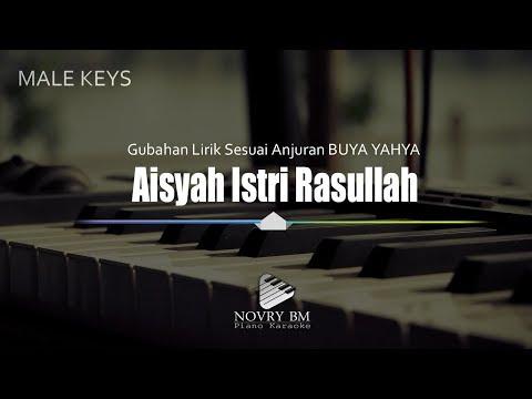 karaoke-piano-+-lirik-sayyidah-aisyah-male-key-(lirik-ubahan-anjuran-buya-yahya)