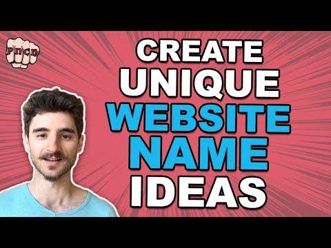Create a Unique Website Name Ideas (Choose a domain name like a boss)