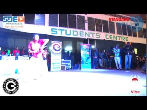 Bahati Performs at Moi university Eldoret