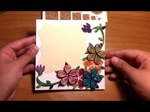 Fiori Quilling.Quilling Flower Card Quilling Flor Cartao Biglietto Fiori