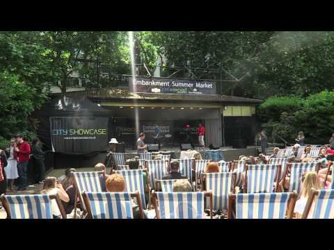 Victoria Embankment Gardens Summer Market London + Homelessness
