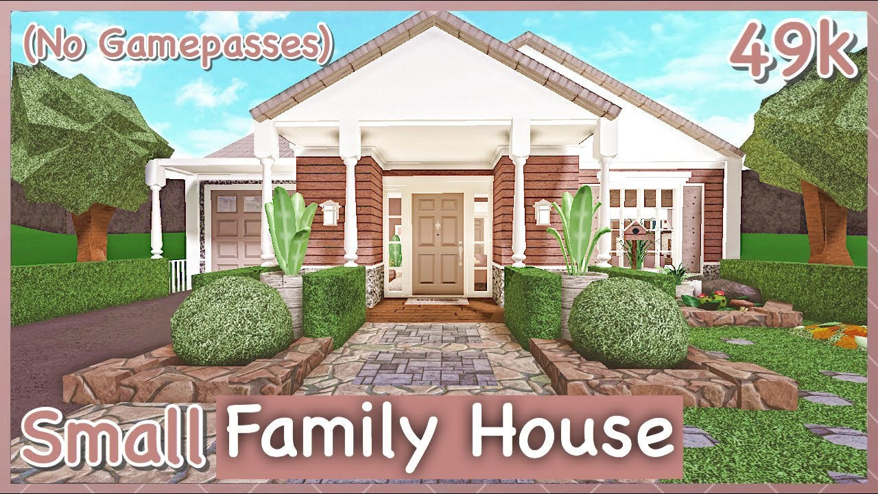 Bloxburg Small Family House Speed Build No Gamepasses