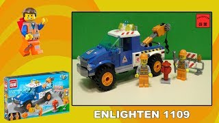 Обзор конструктора Enlighten Brick 1109  - Road Wrecker (Автомобиль дорожных работ)