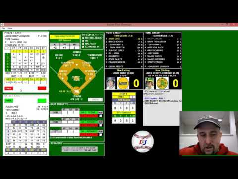 Inside Pitch Baseball IP PC Game 041078 1978 Mariners vs A's Tutorial and Replay